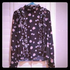 Long sleeve floral dress shirt